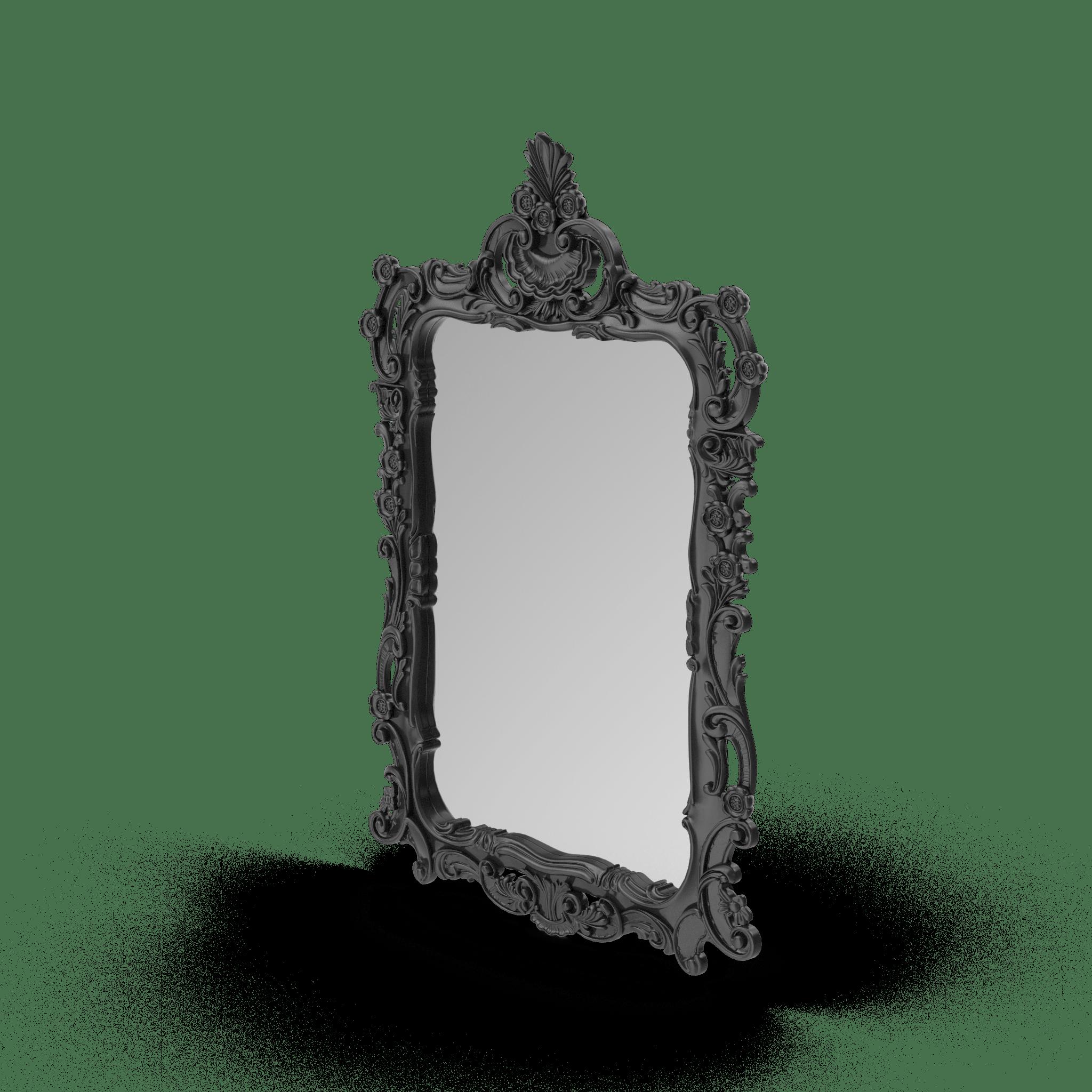 Black Wall Baroque Mirror.H03.2k-min