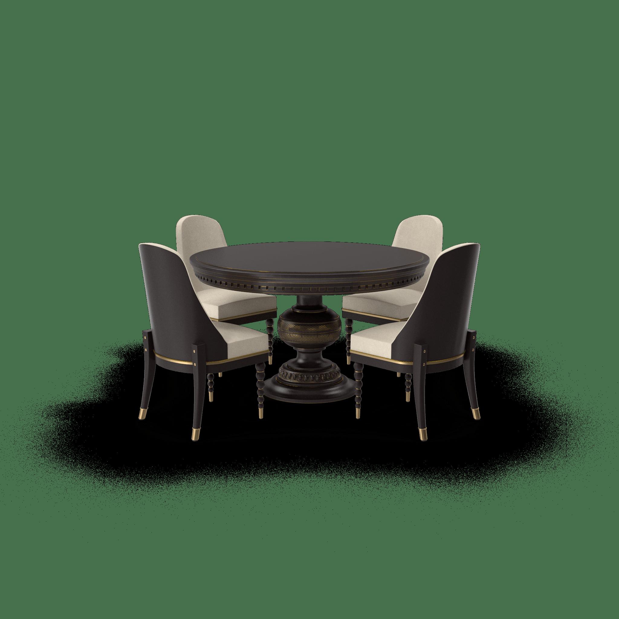 Round Dining Table Set.H03.2k-min